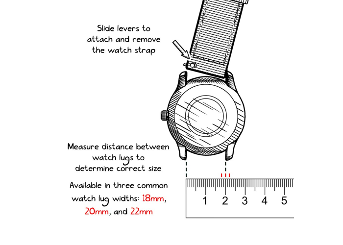 Archer Watch Straps Seat Belt Nylon Quick Release Bands   Multiple Colors- 18mm- - 1