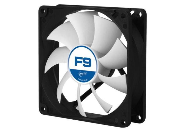 Arctic F9 9.2cm Case Fan, Black & White, 9 Blades, Fluid Dynamic, 6 Year Warranty - 1