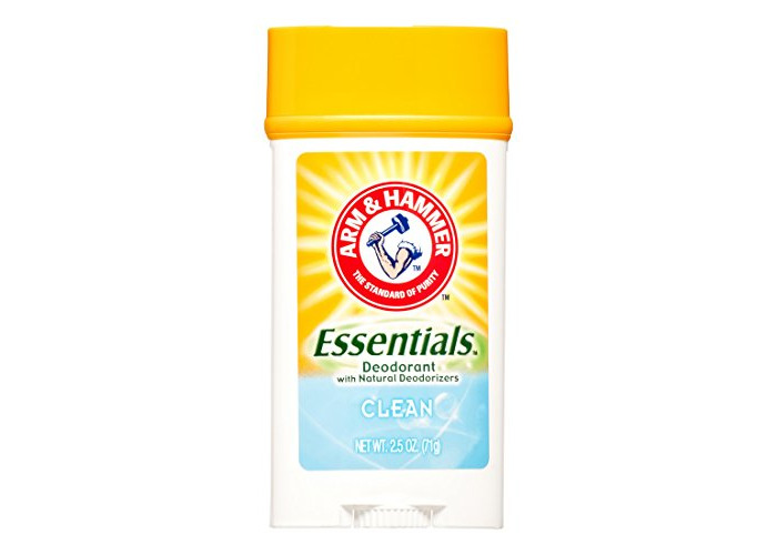 ARM & HAMMER Essentials Solid Deodorant, Clean, Wide Stick, 2.5 oz. (Pack of 3) - 1