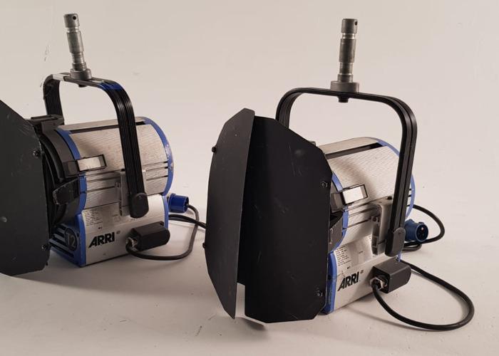 2x Arri 2K 2000w Watt Fresnel T2 Light Tungsten - 2