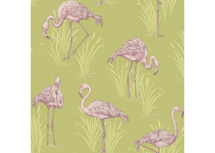 Arthouse Lochs & Lagoons Collection Lagoon Green/Pink 252602 - 1
