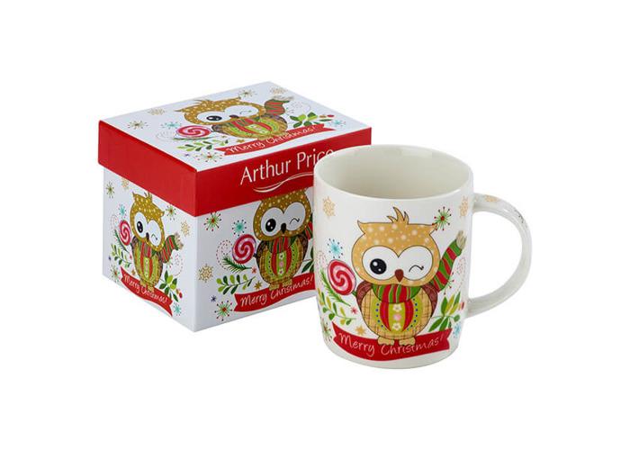 Arthur Price Christmas Owl Mug Winky - 1