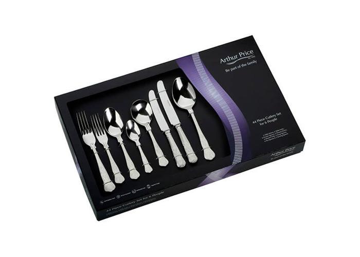 Arthur Price Classic Kings 44 Piece Cutlery Gift Box Set FREE Extra Six Tea Spoons - 1