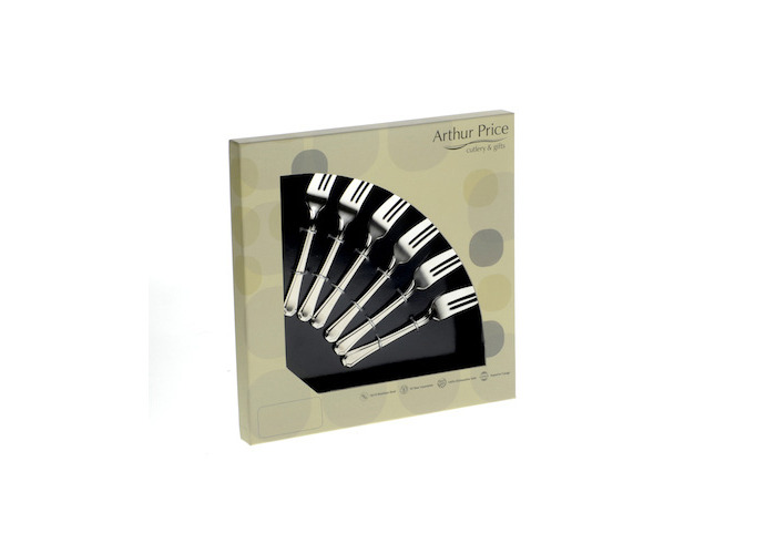 Arthur Price Classic Rattail Set of 6 Pastry Forks - 1