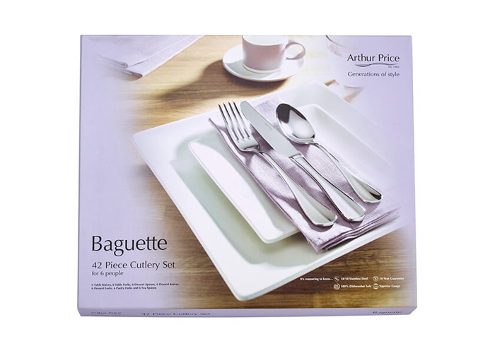 Arthur Price Everyday Classics Baguette 42 Piece Cutlery Set - 1