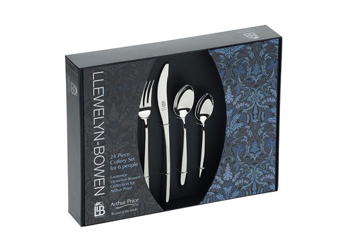 Arthur Price Llewelyn-Bowen Echo 24 Piece Cutlery Box Set - 1