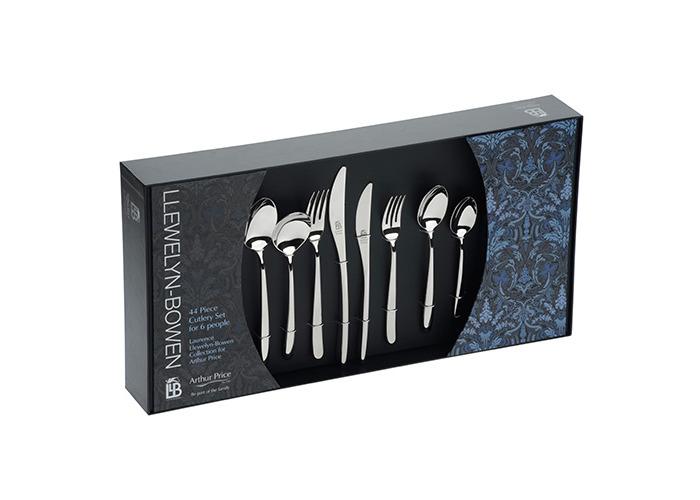 Arthur Price Llewelyn-Bowen Echo 44 Piece Cutlery Box Set - 1