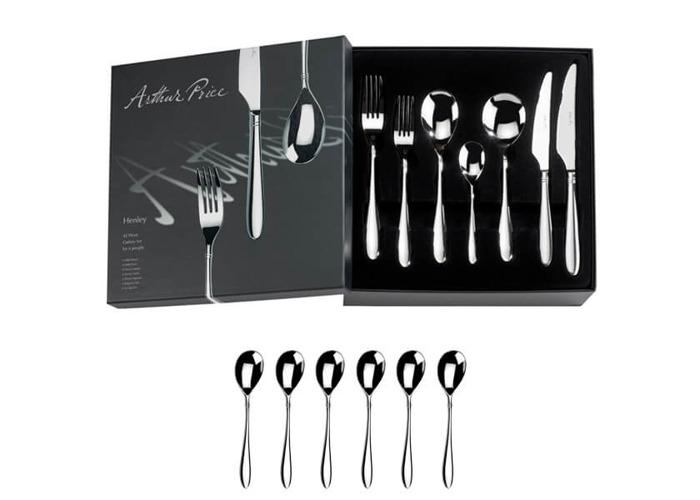 Arthur Price Signature Henley 42 Piece Cutlery Box Set Plus FREE Set of 6 Tea Spoons - 1