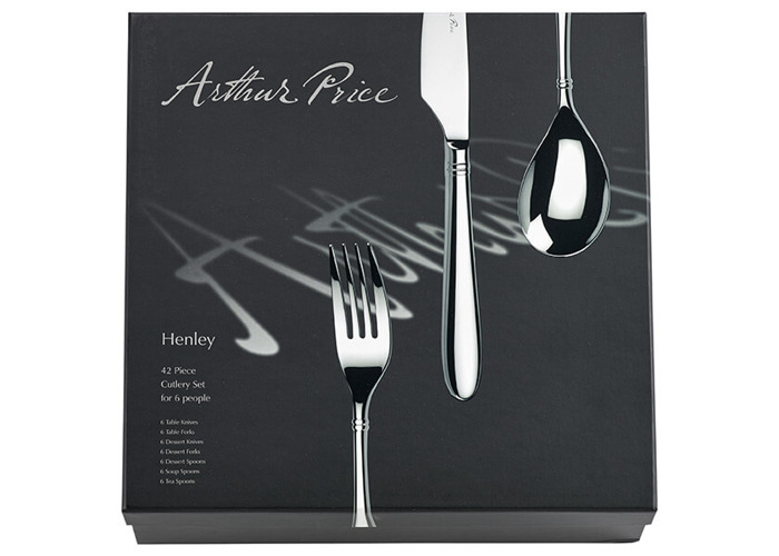 Arthur Price Signature Henley 42 Piece Cutlery Box Set Plus FREE Set of 6 Tea Spoons - 2