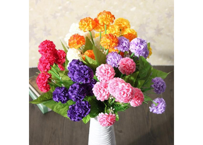 Artificial Daisy Chrysanthemum Silk Flowers Floral Bouquet 8 Heads 7 Colors Home Garden - 1