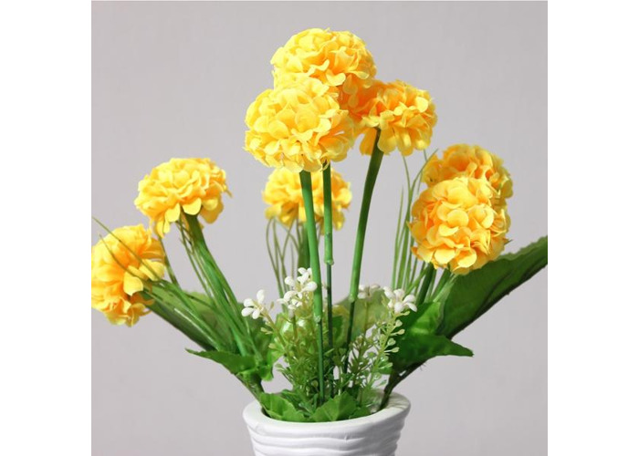 Artificial Daisy Chrysanthemum Silk Flowers Floral Bouquet 8 Heads 7 Colors Home Garden - 2