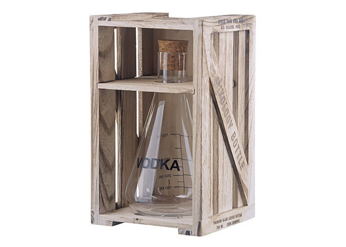 Artland Mixology VODKA Decanter in Wooden Crate Gift Box 750 ml 25.36 fl oz - 2