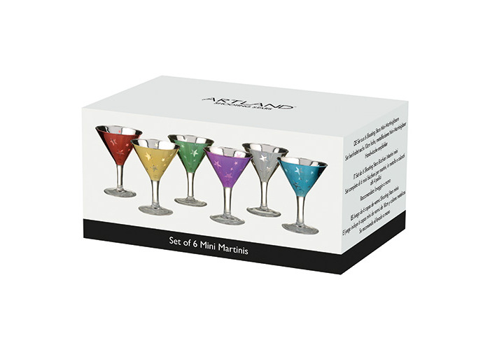 Artland Set of 6 Shooting Stars Mini Martinis, Multi/Coloured, Set of 6 - 2