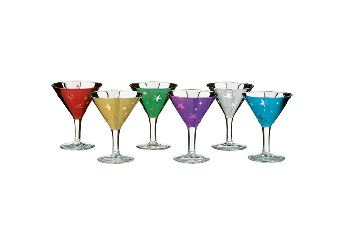 Artland Set of 6 Shooting Stars Mini Martinis, Multi/Coloured, Set of 6 - 1
