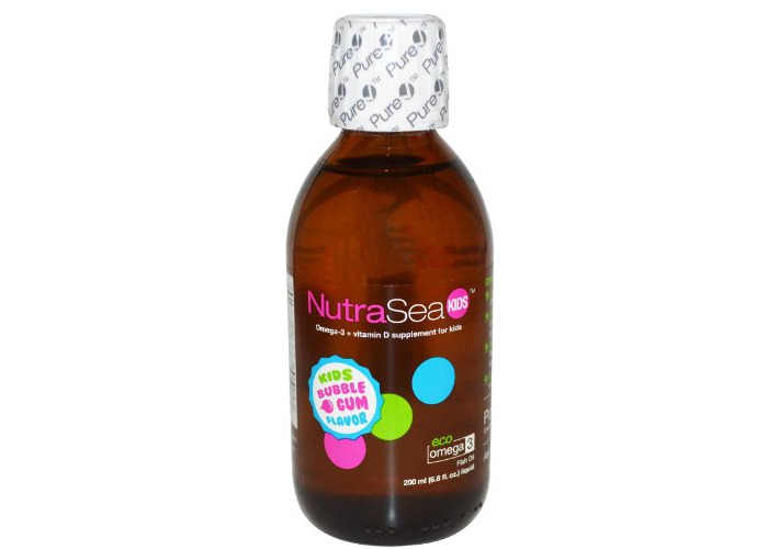 Ascenta Health - NutraSea Kids Liquid Omega-3 Bubble Gum Flavor - 6.8 oz. - 1