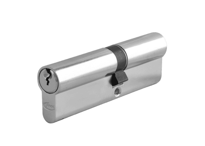 ASEC 6-Pin Euro Double Cylinder - 100mm 45/55 (40/10/50) KD NP - 1