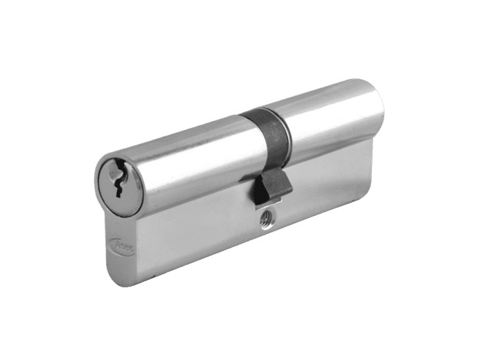 ASEC 6-Pin Euro Double Cylinder - 90mm 45/45 (40/10/40) KD NP - 1