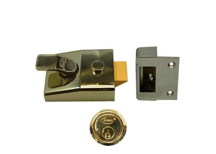 ASEC AS15 & AS19 Deadlocking Nightlatch - 60mm BLUX - PB  - 1