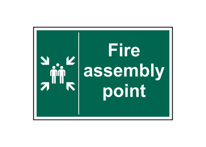 ASEC Fire Assembly Point Sign 400mm x 600mm - 400mm x 600mm - 1