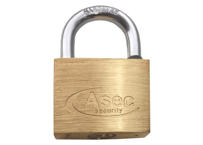 ASEC KA Open Shackle Brass Padlock - 40mm KA `J`  - 1