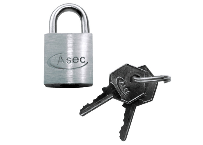 ASEC KD Open Shackle Chrome Finish Padlock - 60mm KD   - 1