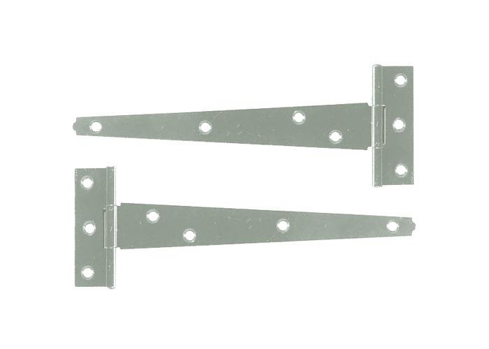 ASEC Light Tee Hinge - Zinc Plated - 250mm (Pair) - 1
