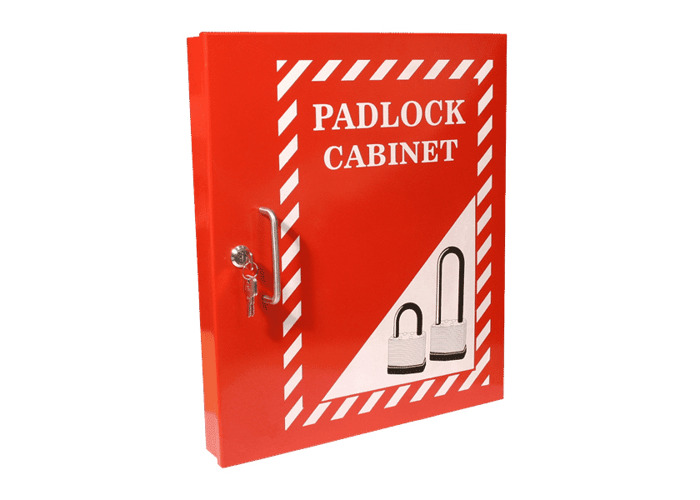 ASEC Lockout Tagout Padlock Cabinet - Red - 1