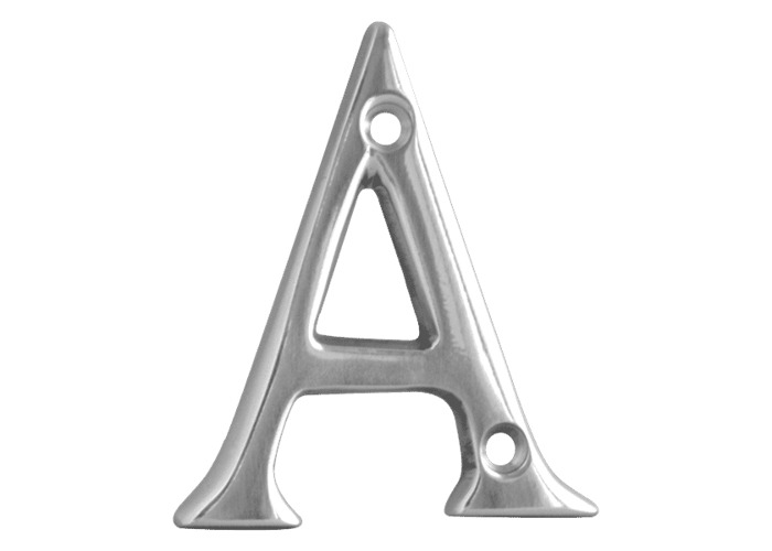 ASEC Metal Letters - 50mm CP `A` - 1
