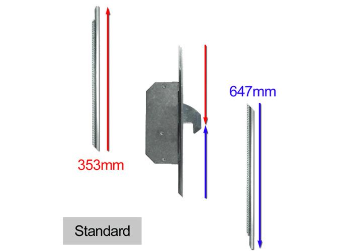 ASEC Modular Repair Lock Locking Point Extensions (Timber Door) - 2 Hook - Std - 1