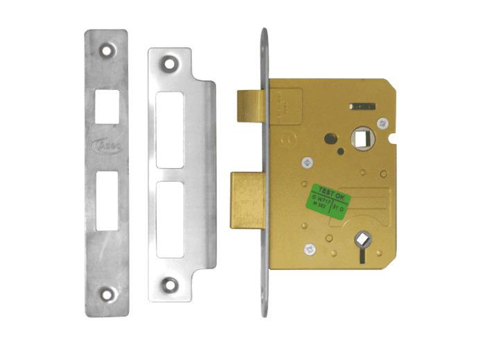 ASEC Mortice Bathroom Lock - 76mm SS  - 1