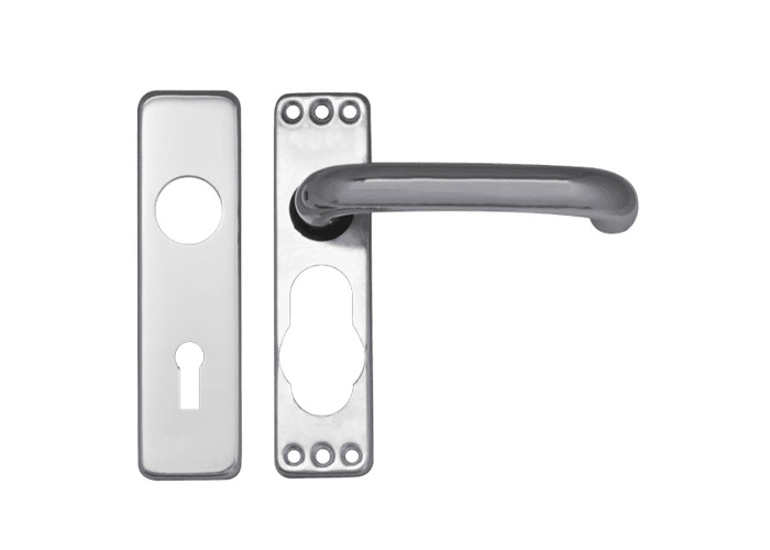 ASEC Plate Mounted Aluminium Lever Furniture - SAA Lever Lock - 1