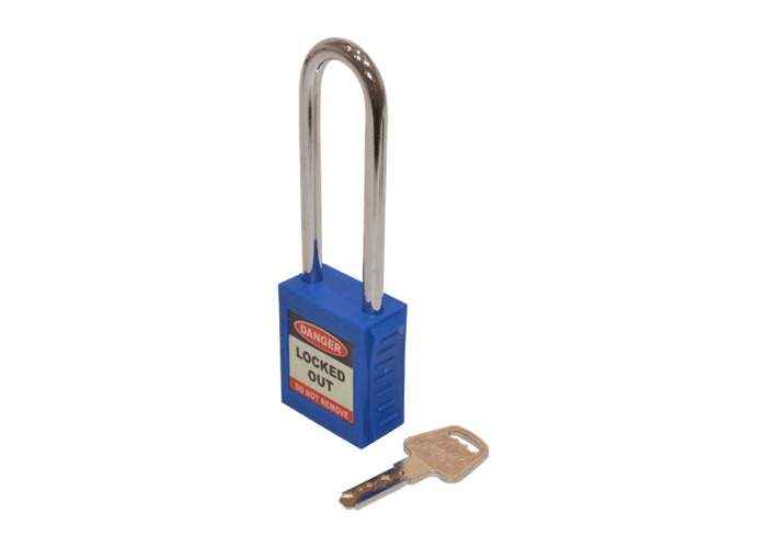 ASEC Safety Lockout Tagout Padlock Long Shackle - Blue - 1