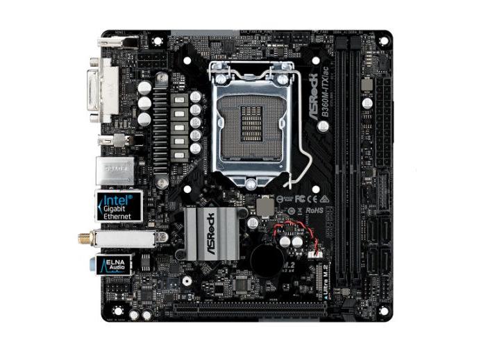 Asrock B360M-ITX/AC, Intel B360, 1151, Mini ITX, DDR4, DVI, HDMI, DP, Wi-Fi, M.2 - 1