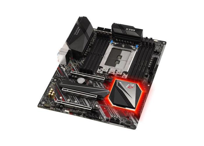 Asrock X399 PHANTOM GAMING 6, AMD X399, TR4, ATX, 8 DDR4, XFire/SLI, 2.5GB LAN, RGB Lighting - 1