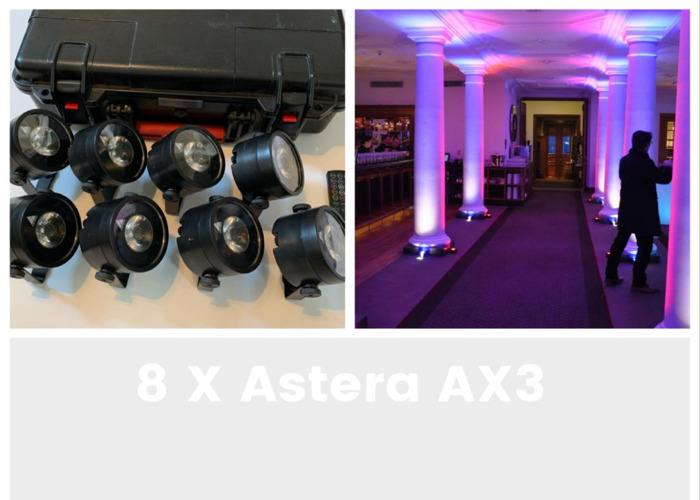 Astera AX3 LED lights Stand Remote 1 event party tube - 1