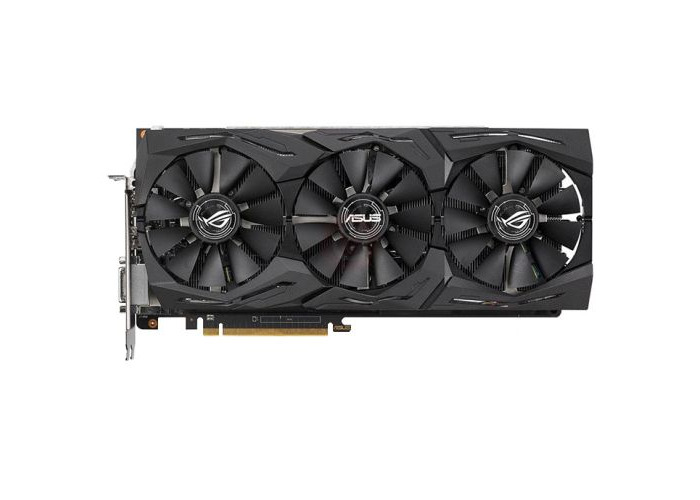 Asus Radeon ROG STRIX RX VEGA56 OC, 8GB HBM2, DVI, 2 HDMI, 2 DP, 1573MHz Clock, RGB Lighting - 1