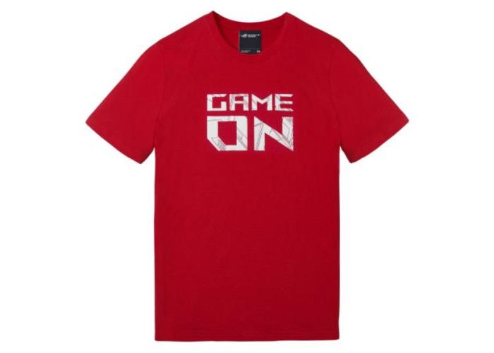 Asus ROG Game On T-Shirt, Red, Medium - 1