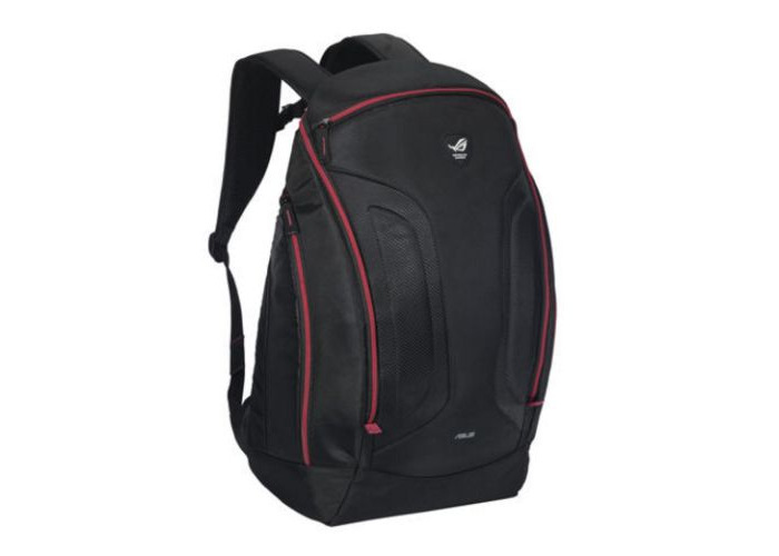 "Asus ROG SHUTTLE II 17"" Backpack, Oversized Interior, Water Resistant, Black & Red - 1"
