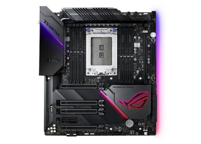 Asus ROG ZENITH EXTREME ALPHA, AMD X399, TR4, EATX, 8 DDR4, XFire/SLI, Wi-Fi, Dual LAN (1 x 10GB), RGB Lighting - 1