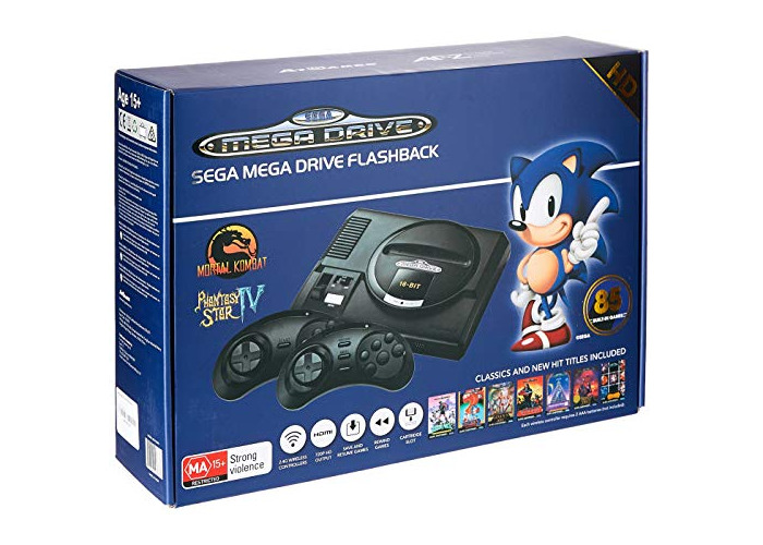 AT Games Arcade Classic Sega Mega Drive Flashback Wireless Mini HD Console EU (Electronic Games) [video game] - 1