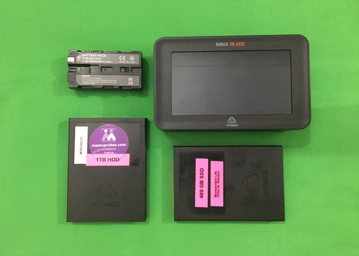 Atomos NINJA BLADE HDMI with SSD & HDD (HDR 400 nit) in case - 1