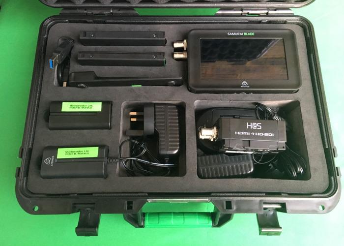 Atomos SAMURAI BLADE SDI with SSD & HDD (HDR 400 nit) in case - 2