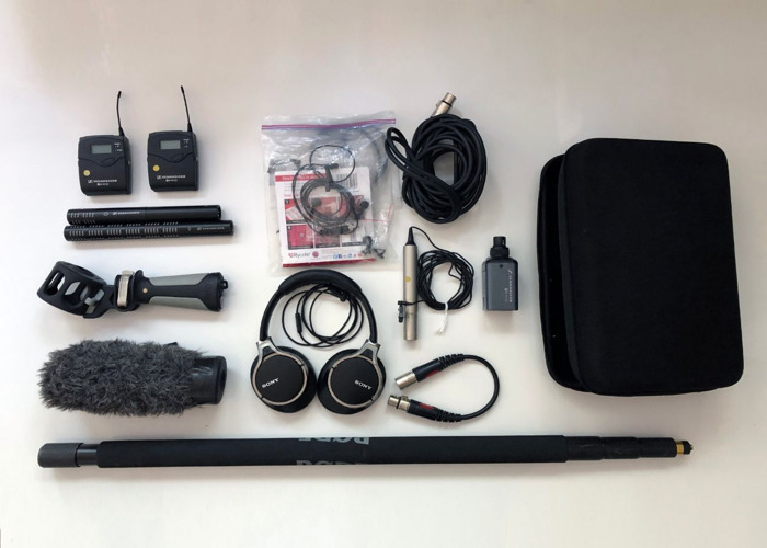 Audio sound TV microphone kit : Sennheiser/ Sony wireless, cabled and shotgun microphone  - 1