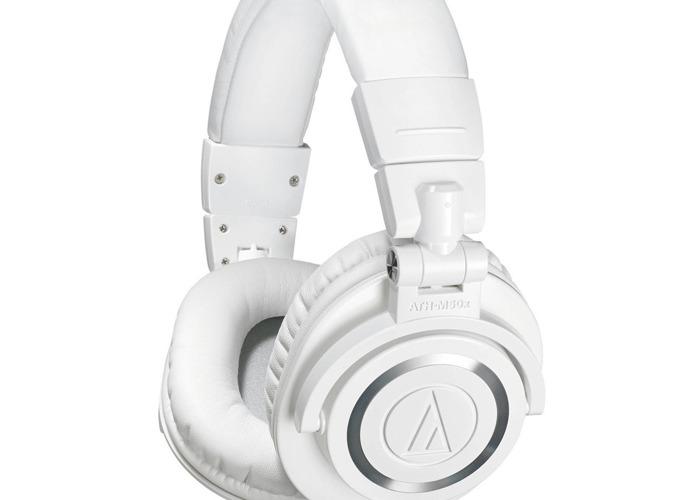 Audio Technica ATH-M50xWH Professional Monitor Headphones - 1