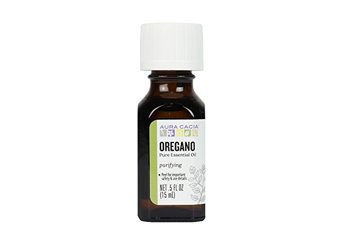 Aura Cacia, 100% Pure Essential Oil, Oregano, Purifying, .5 fl oz (15 ml) - 1