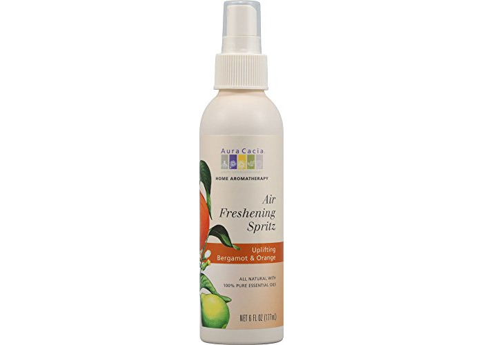 Aura Cacia, Air Freshening Spritz, Uplifting Bergamot & Orange, 6 fl oz (177 ml) - 1