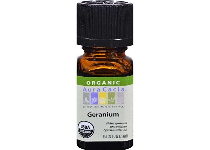 Aura Cacia Organic, Geranium, 0.25 Fluid Ounce - 1