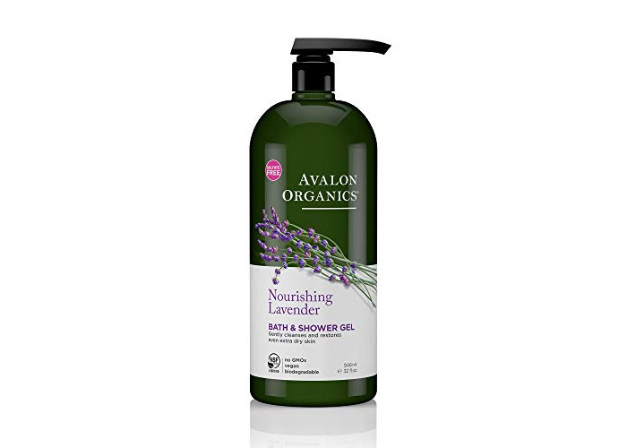 Avalon Organics Nourishing Lavender Bath & Shower Gel, 32 oz. - 1