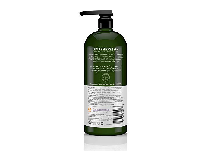 Avalon Organics Nourishing Lavender Bath & Shower Gel, 32 oz. - 2
