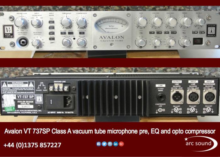 Avalon VT737 SP microphone channel strip - 1